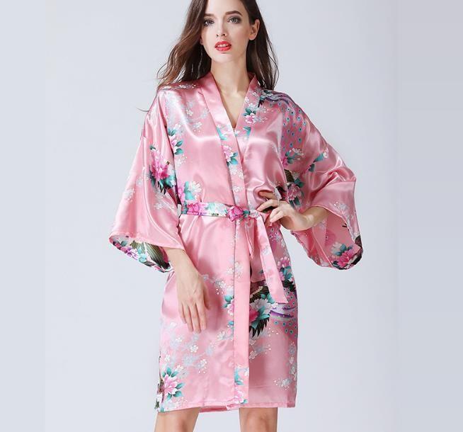6e616d462c Cheap silk robes Kimono bridesmaids Brides gifts hen bacholette party gift  10 pcs lot free shipping