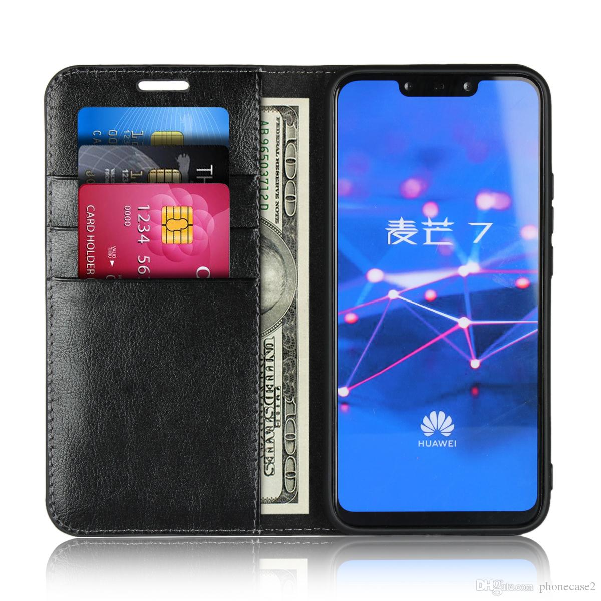 promo code c2acc b10e8 Flip Case For huawei Mate 20 lite Case Cover Genuine Leather Case Luxury  Wallet Card Slots cases for huawei mate 20 lite