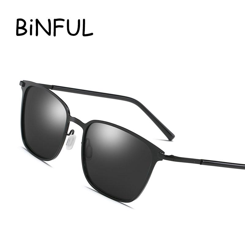 5897db4c4aec2 Sunglasses Men Polarized 2018 Square Sun Glasses Aluminum Magnesium ...