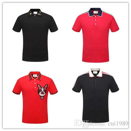 Summer Fashion Polo Men Designer Label Tee Embroidery Tiger Head Short  Sleeve Slim T Shirts For Men Youth T-shirt Men T Shirts Online with   28.72 Piece on ... cf9d697bb461e
