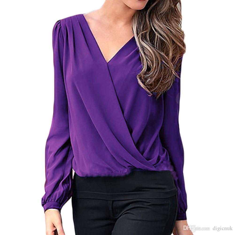 Shop Womens Blouses Shirts Online S5q Women Casual Slim Chiffon