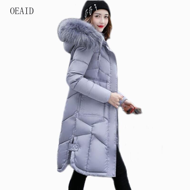 78fc3666acc OEAID Fashion Fur Coat Women Parka 2018 Winter Jacket Women Jackets ...