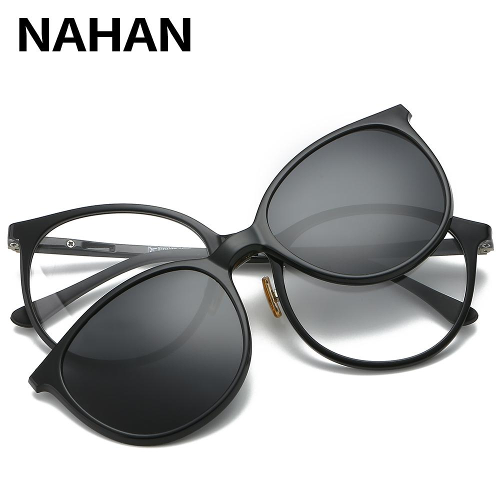 64bc643aa3 Women   Men Polarized Magnetic Clip Glasses Male Driving Clip On Sunglasses  Prescription Magnet Myopia Glasses Frame With Case Online Eyeglasses  Discount ...