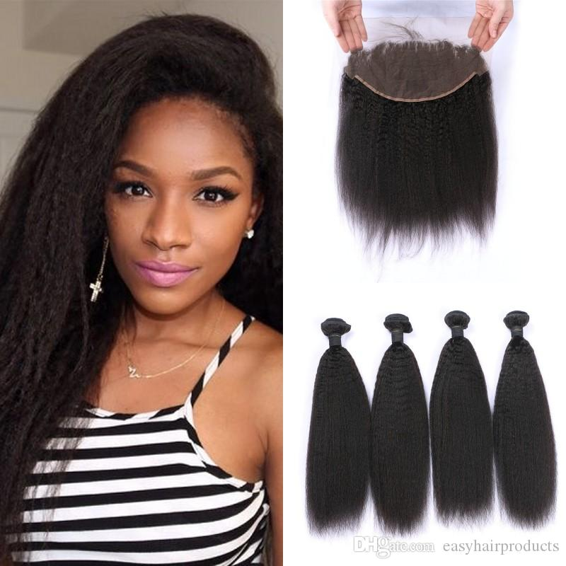 Brazilian Hair With Lace Frontal 136inch Unprocessed Human Hair