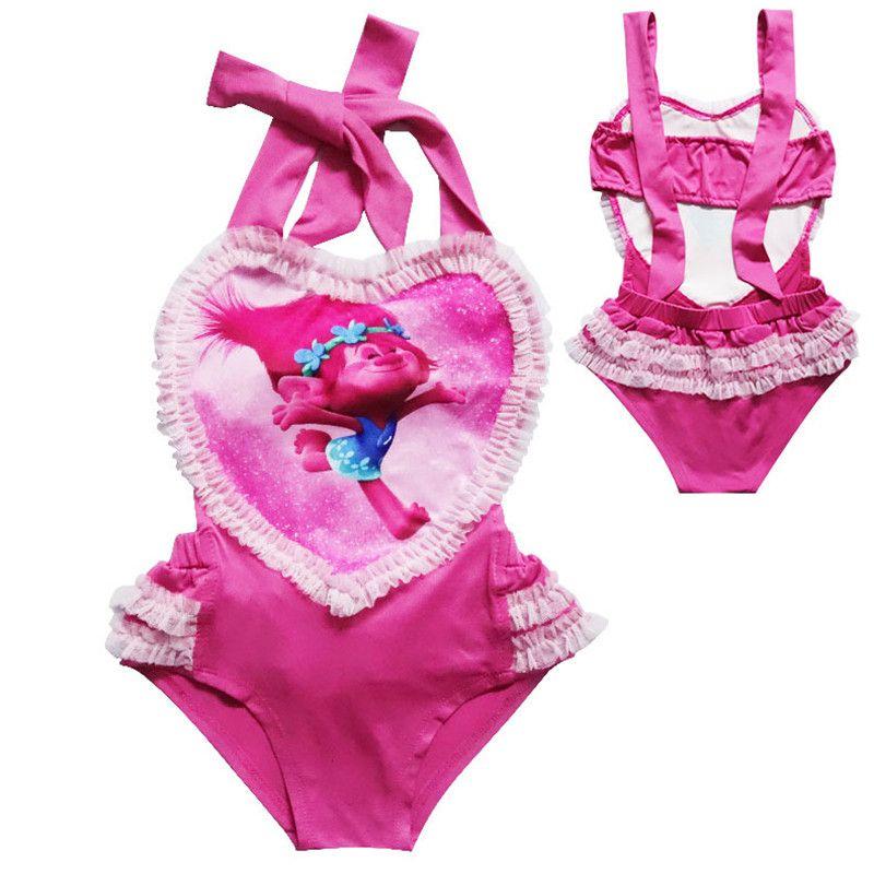 9ce7f9e88065e 2019 Children Trolls Sweat Heart Swimwear Bathing Suit Girls Summer One  Piece Swimwear Swimsuit Bikini Clothing B0151 From Lina_2016, $5.97    DHgate.Com