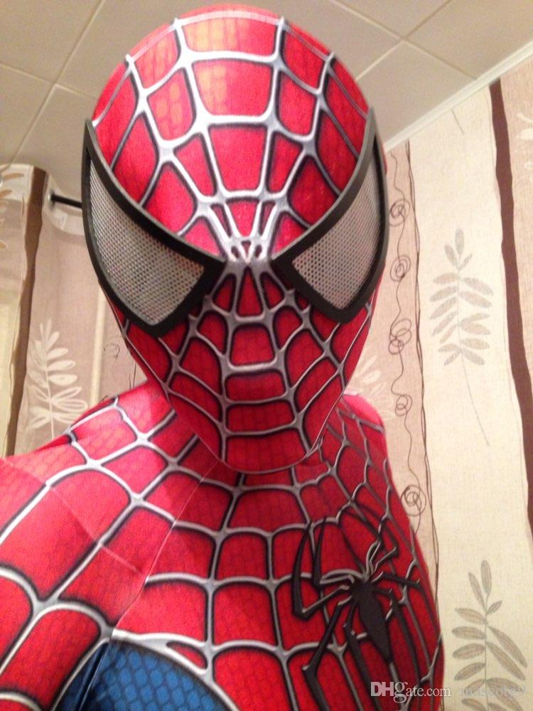 Spider Man Halloween Costume Adults.Amazing Spider Man Costume 3d Original Movie Halloween Cosplay Spandex Spiderman Costume Adult Suit Hot Sale Free Shipping