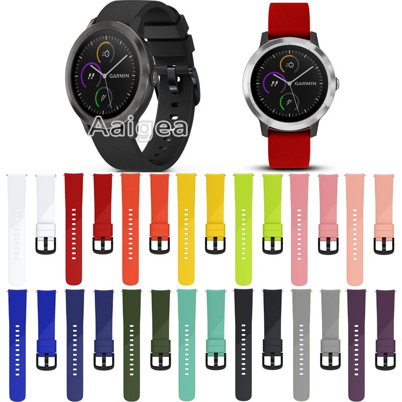 fdfaeef1e5f Soft Silicone Watch Strap Band For Garmin Vivoactive 3 Smart Watch  Replacement Colorful Bracelet Wrist Band Strap 20mm Watchband Watch Straps  For Sale Buy ...