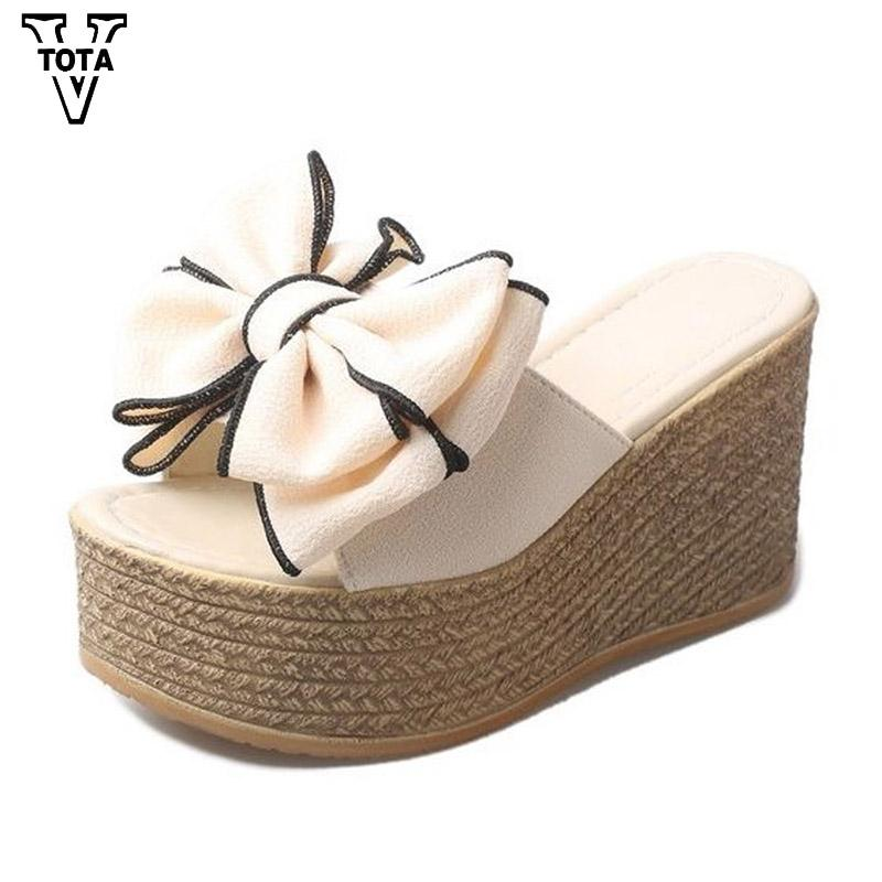 a373ebf0ac56 VTOTA New Summer Women Slippers Summer Ladies Slippers For Family Butterfly  Knot Women Shoes Antiskid Female Sandals Women QYXC Wedge Boots Boots Sale  From ...