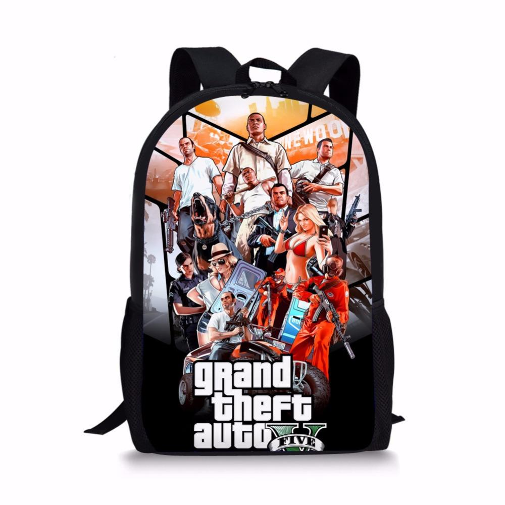 bec24a7171ef Coloranimal Kids Backpack Famous Grand Theft Auto V Hot Game Print Large  Children Schoolbags Casual Laptop Softback Pack Lunch Bags For Kids  Wholesale Bags ...