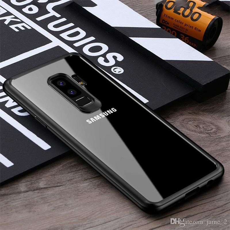 Phone Case for Samsung Galaxy S9 plus cases Luxury Fashion Transparent TPU Soft Plated Phone Back Cover for Samsung S9