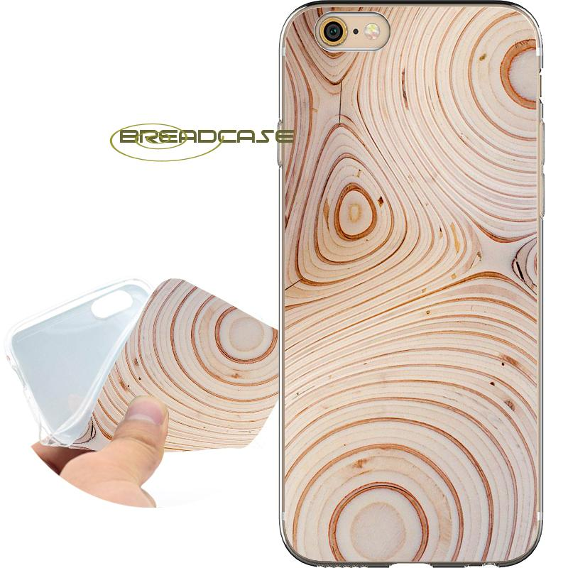 the best attitude 521c6 35b60 Coque Wood Texture Rings Cases for iPhone 10 X 7 8 6S 6 Plus 5S 5 SE 5C 4S  4 iPod Touch 6 5 Clear Soft TPU Silicone Cover.