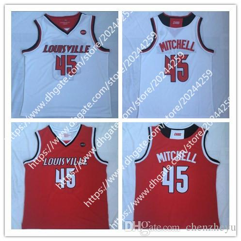 b41ccfcc572 Men s Donovan Mitchell Jersey  45 Louisville College Cardinals ...