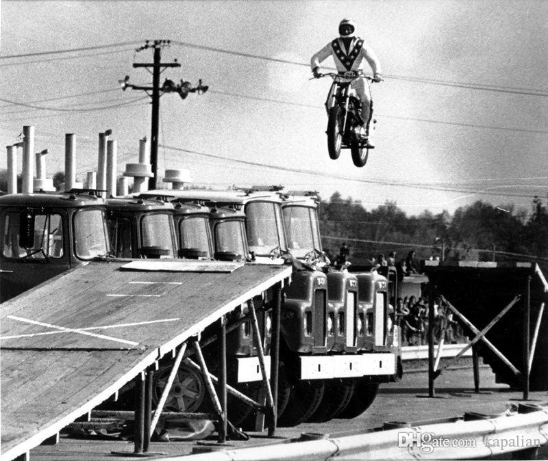 Evel Knievel Jumpping Motocycle Sport Art Posters Print Photopaper 16 24 36  47 inches
