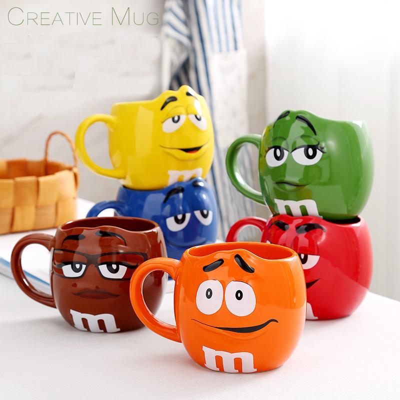 Chocolat M Tasses Haricots Dessin Mugs Creative American Acheter 4L3Rj5A