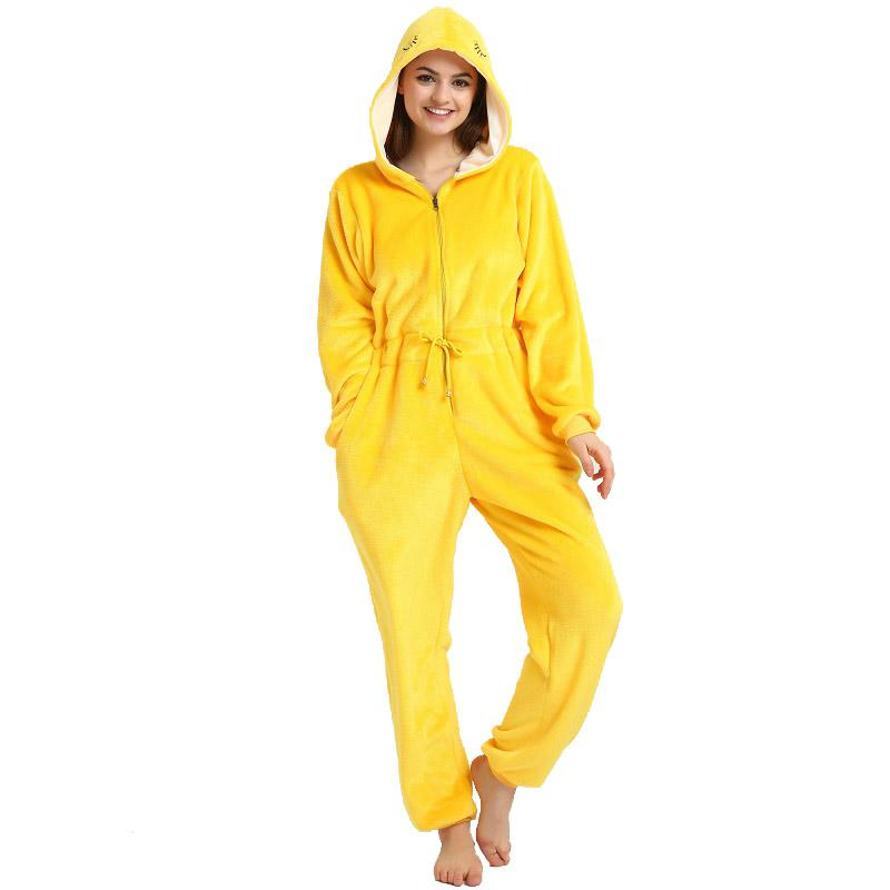 bf495f17ca Cute Women Hooded Long Sleeve Pajamas Winter Warm Sleepwear Pyjamas Women  Online with  77.28 Piece on Liujunjie3344 s Store