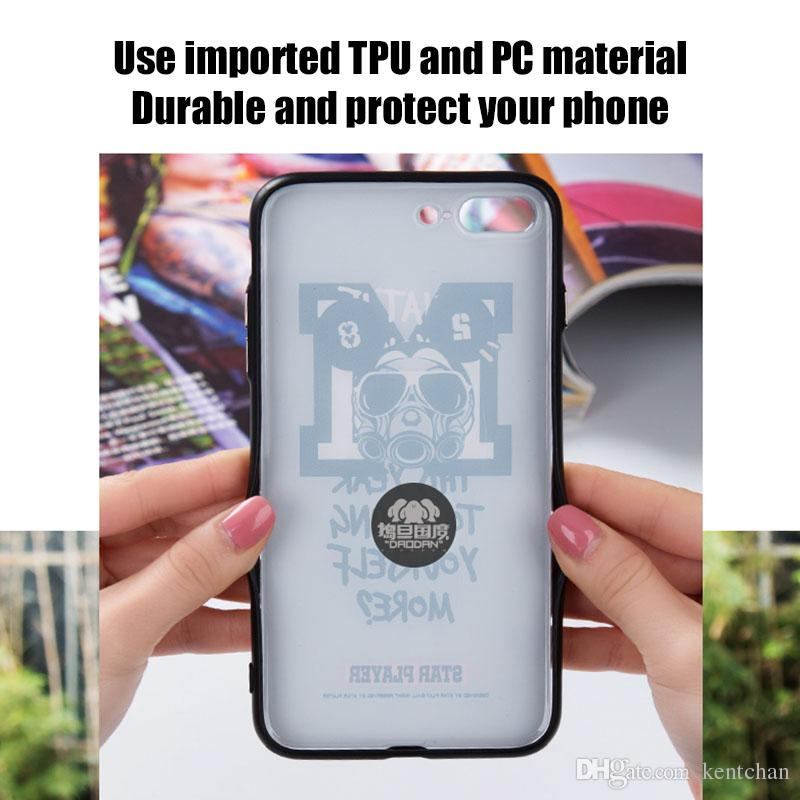 For iPhone 6 6plus 7 7plus 10X handphone case personalized creative hacker ring bracket 3D embossed printing phone case