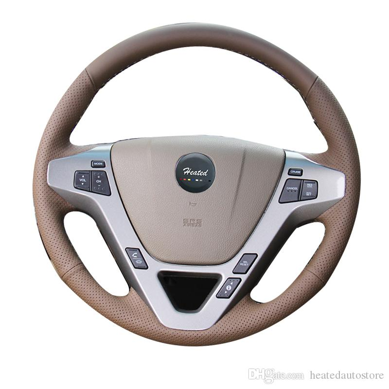 Hand Sewing Leather Car Steering Wheel Cover For Honda Acura Mdx - Acura steering wheel cover
