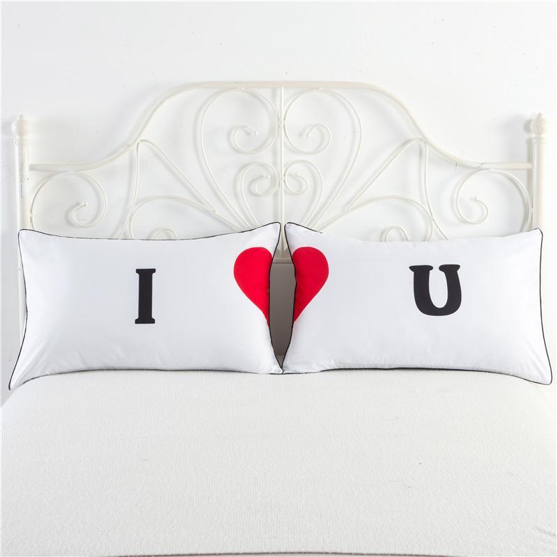 His Hers Kussensloop.New His Hers King Queen Wedding Pillow Case Best Friends Couples