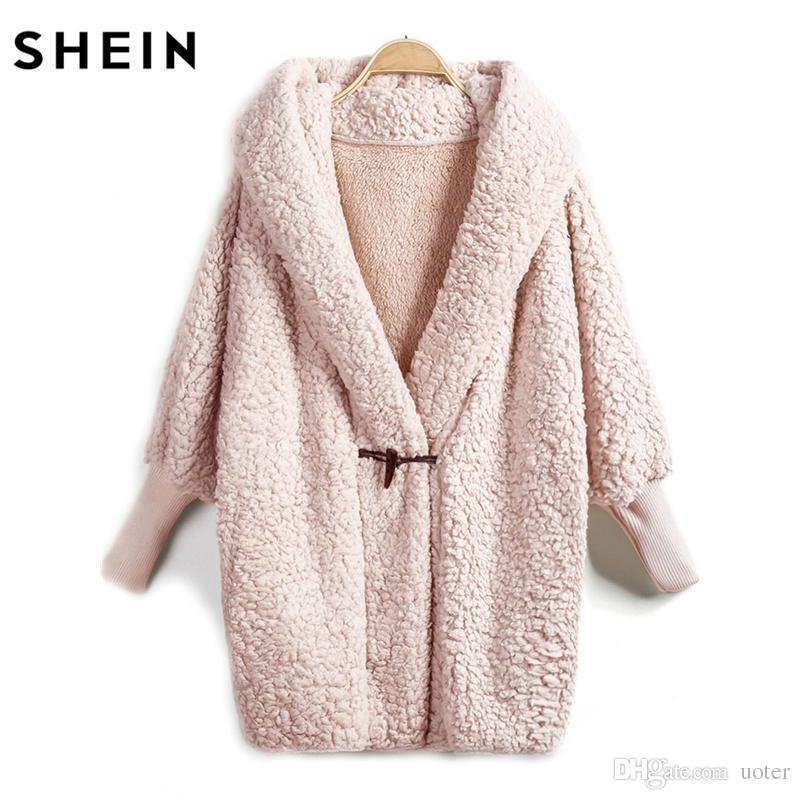 Shein In Cappotto Pelliccia Sintetica Acquista Con All'ingrosso 6wq5F4