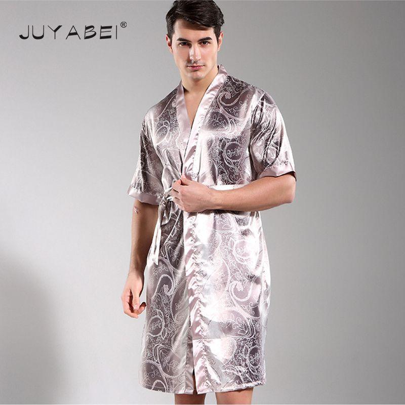 2017 New Male Pajamas Print Men s Half Sleeves Sleepwear Pyjamas ... 6434849a9