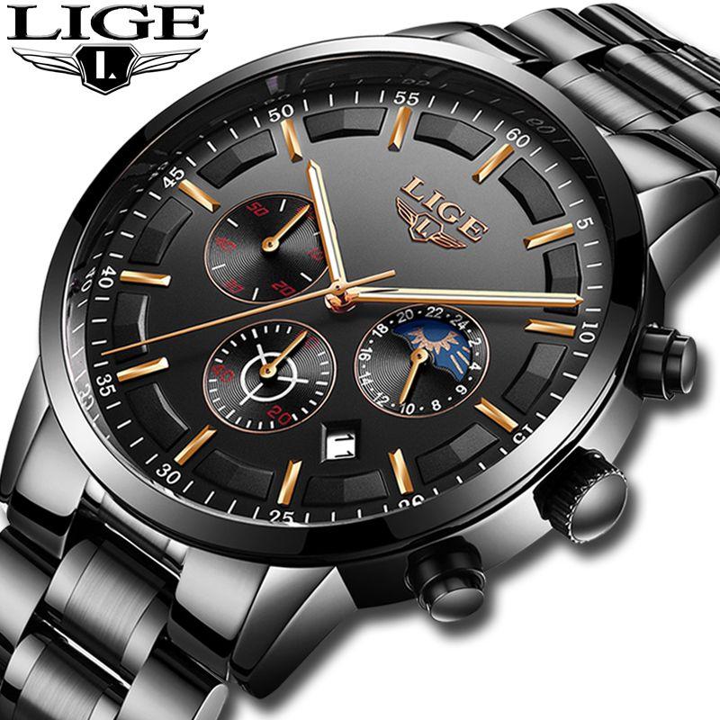 00d6a07ae2e Relojes 2018 Watch Men LIGE Fashion Sport Quartz Clock Mens Watches Top  Brand Luxury Business Waterproof Watch Relogio Masculino High Quality  Watches ...