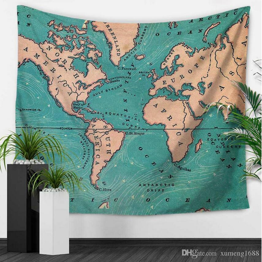 Cmxcm World Map Indian Tapestry Hippie Wall Hanging Tapestries - Cloth world map wall hanging