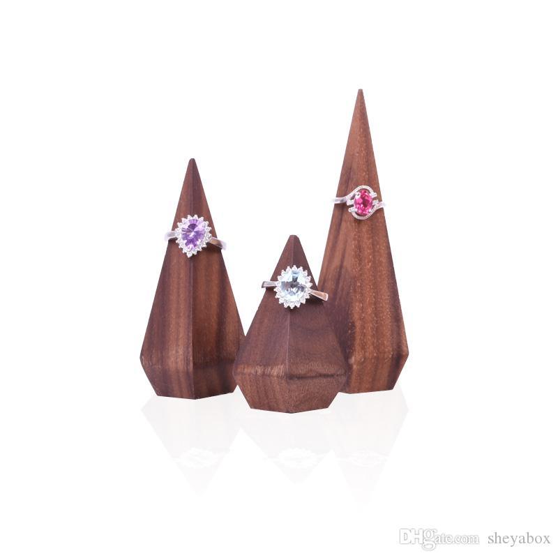 Finger Pointu Anneau Hölder bois Proposition Bijoux Bagues Présentoir pour Boutique Boutique Comptoir vitrine Foire Exposition de bijoux