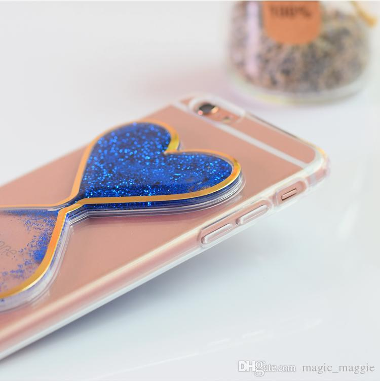 Cheap Price Colorful Transparent TPU 3D Hourglass Design Back Case Liquid Quicksand Cell Phone Case for Iphone6 Iphone6plus