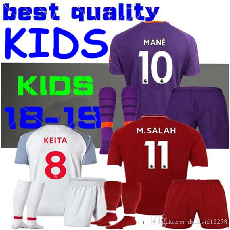 new products 6c887 ef7b1 M.Salah KIDS JERSEY MANE 18 19 KEITA Soccer Jersey Firmino Henderson  Shaqiri 2019 Children VIRGIL LALLANA Chamberlain FIRMINO Football Shirt