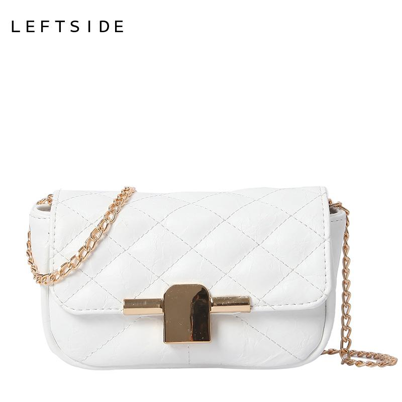7c8a3e1ce21 LEFTSIDE Small Quilted Chain Crossbody Bags For Women 2018 PU Leather Small  Shoulder Bag Female Hand Bags Handbags And Purses Black Handbag Purses  Wholesale ...