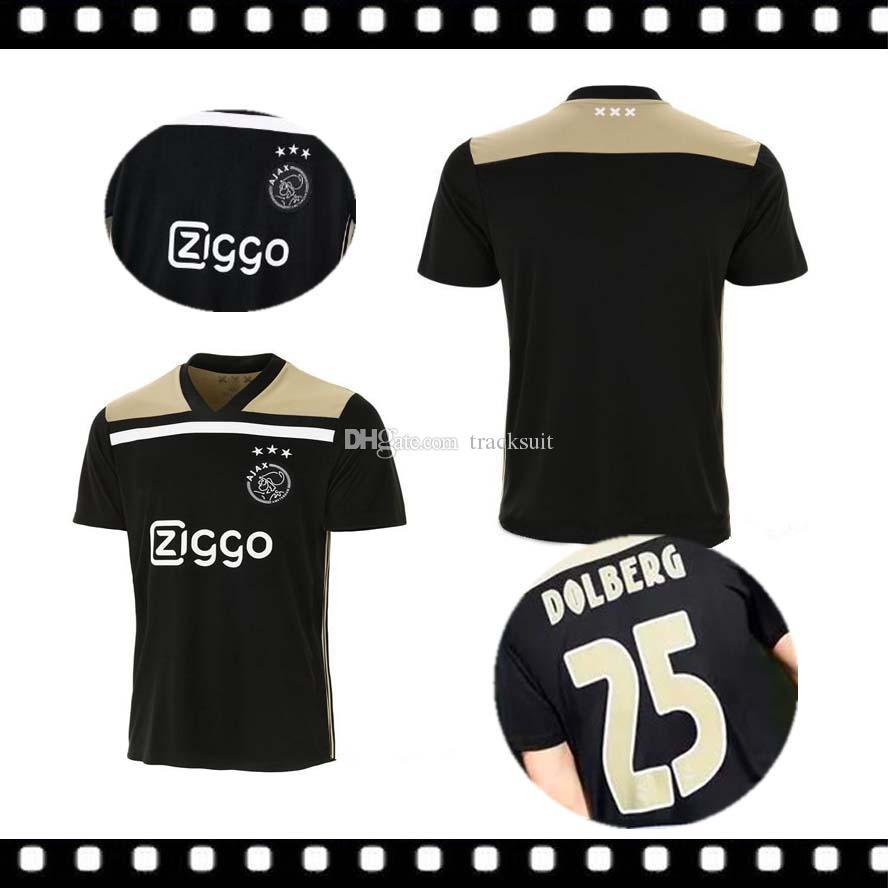 785bfefa7eb 2019 Thai Quality New 2018 Ajax FC Away Soccer Jersey 18 19 KLAASSEN MILIK  NOURI DOLBERG ZIYECH Home Football Uniforms Shirts From Tracksuit, ...