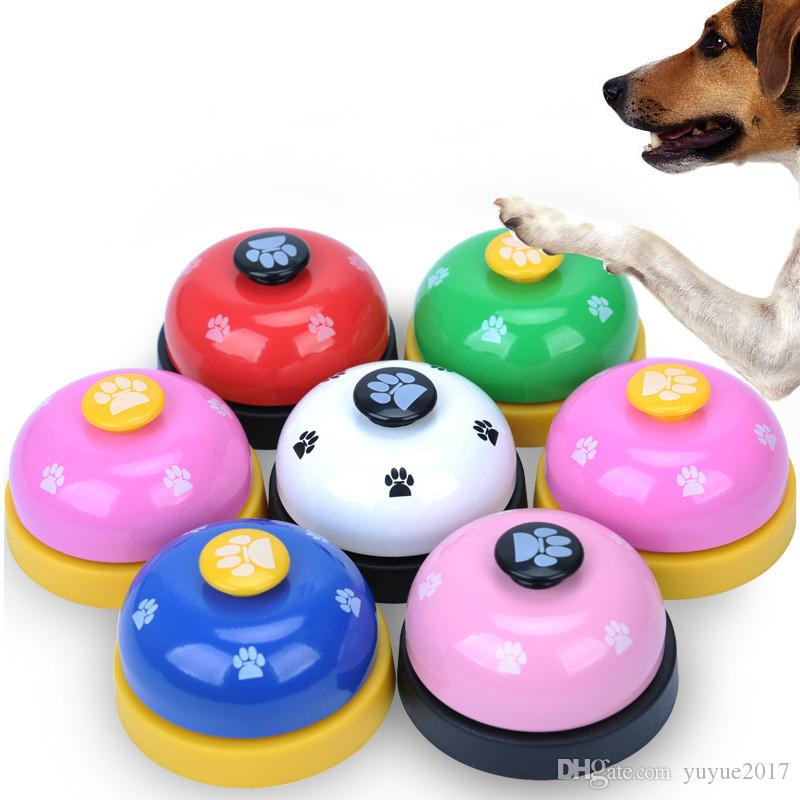 2018 new Pet Toy Training Called Dinner Small Bell Footprint Ring Dogs Toys For Teddy Puppy