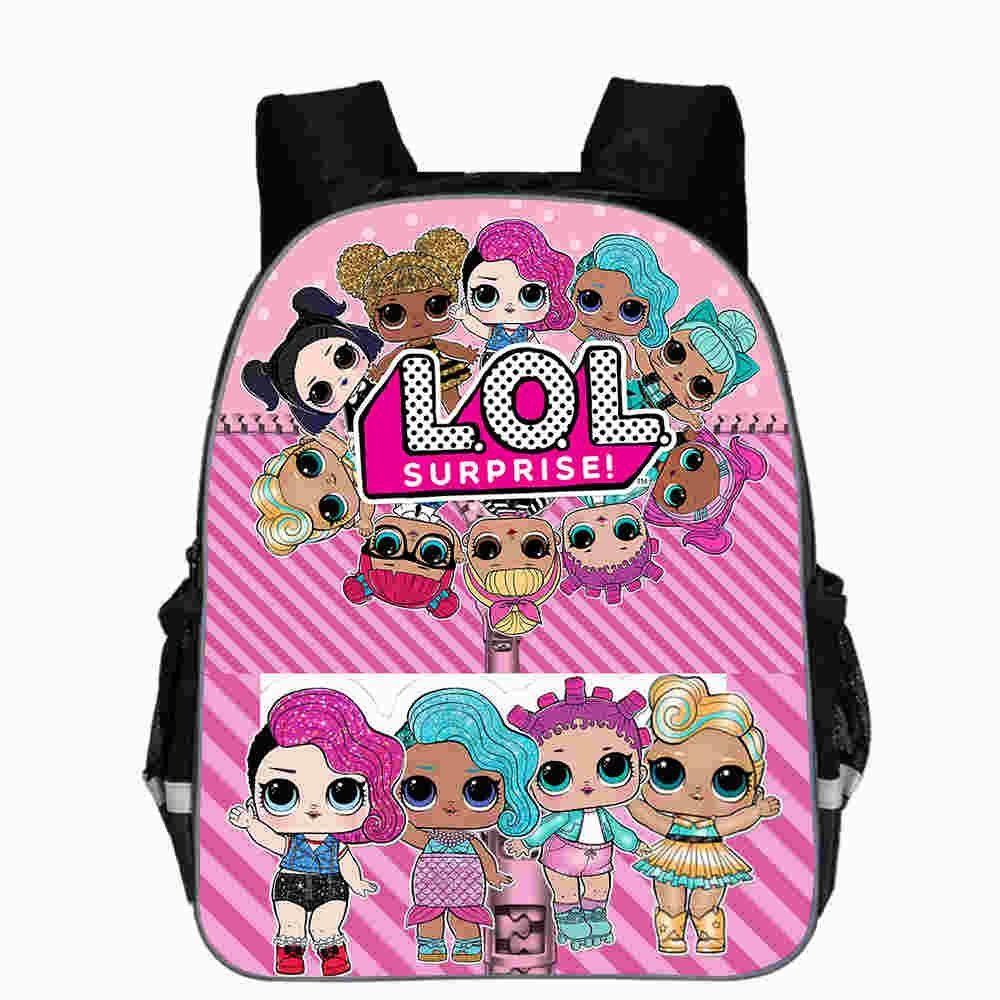Lol Dolls Baby Backpack Animal Anime Cute Casual School Bags