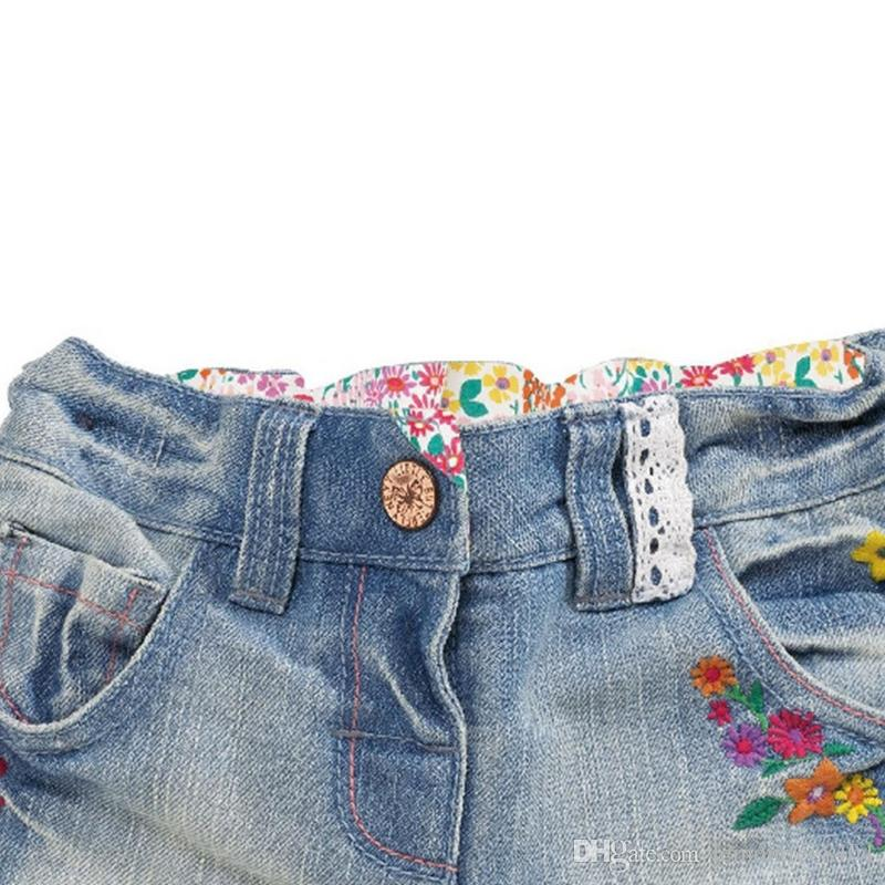Jeans shorts for Kids summer beach shorts mini bottom clothes for girl pants cotton fabric Made In China wholesale green shorts
