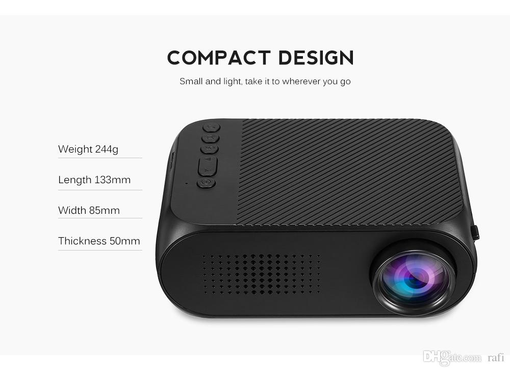 2018 new YG320 HD USB Mini LED Projector 1080P Home Theater Multimedia Player Support HDMI TV Media Movies Players hot item