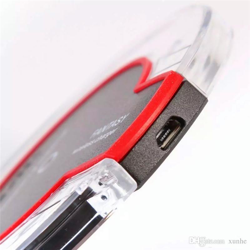 Hochwertiges Qi-Wireless-Ladegerät für Samsung S6 S7 Rand S8 Plus iPhone X 8 Fantasie High Efficiency Pad mit Kleinpaket