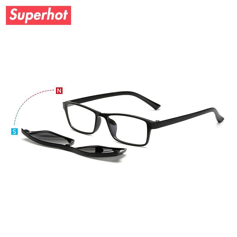 024b87b1c8 Compre Gafas Superpuestas TR90 Gafas Graduadas Con Montura Óptica Con  Lentes Polarizadas Magnéticas Gafas Graduadas Para Mujer Con Lentes TR2250  A $20.45 ...