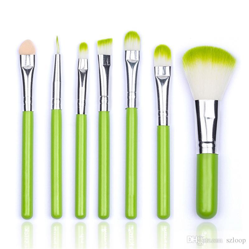 Mini Makeup Brush Set Professional Make Up Brushes Eyebrow Eyeliner Powder Brushes Tools pink/black/green/blue Color New 3001129