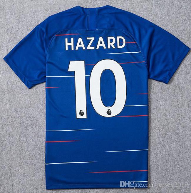 6bc1b666e Thailand TOP New Chelsea Home Blue Soccer Jersey HAZARD WILLIAN ...