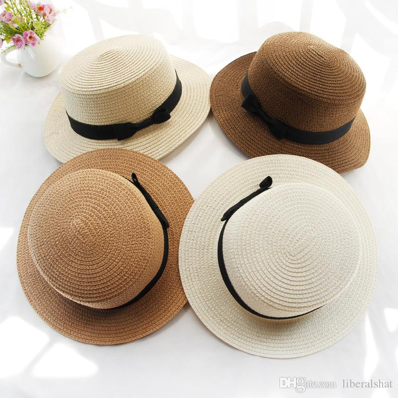 24fe37809f5bb Fashion Sun Hat Fashion Women s Floppy Hat Foldable Brim Floppy Bucket Summer  Beach Men s Sun Hat Protection Straw Bow-knot Hats Cap Sun Protection Hat  Wide ...