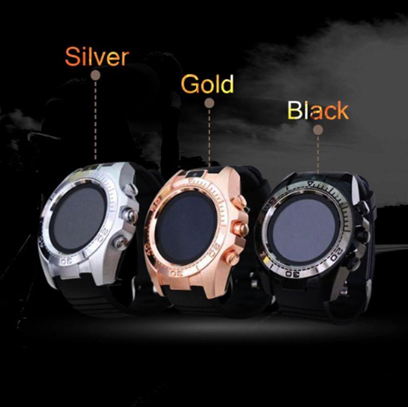 SW007 Bluetooth Smart Watch avec appareil photo Podomètre Appareils portables Support Sim TF Carte Hommes Smartwatch pour téléphone Android