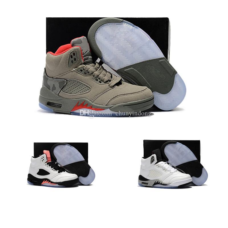 timeless design 127b0 e3272 Compre Nike Air Jordan 5 11 12 Retro Calzado Deportivo De 12 Niños Para  Niños Calzado Deportivo Para Niños Niñas Zapatos Para Correr Tamaño Del  Envío ...