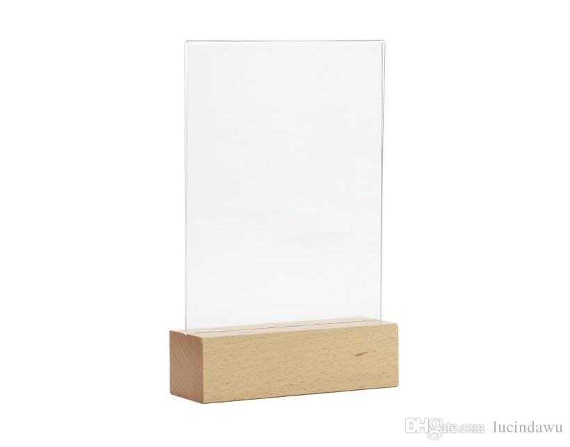 A Price Acrylic Price Tag Holder Desk Sign Menu Holder Display - Table top sign holders
