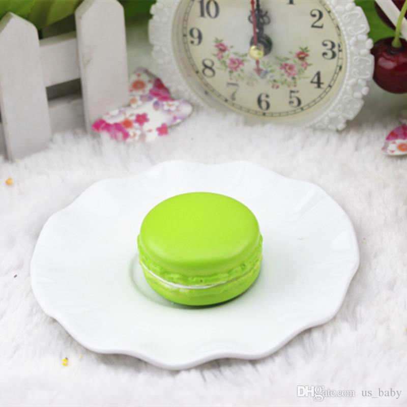 Mini Macaron toy 4cm Artificial Fake Cake Candy color eraser zakka Dessert Decoration Lovely Children Toys