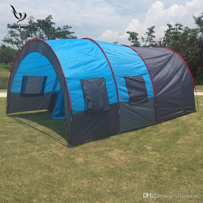 Grosshandel Camping Zelt Hewolf 8 Bis 10 Personen 2 Schlafzimmer 1