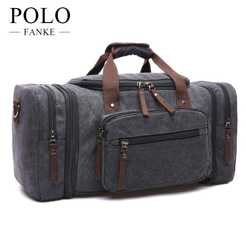 60428dfd7dd5 FANKE POLO Canvas Men Travel Bags Carry On Luggage Bags Men Duffel Travel  Tote Large Bag Men S Casual Trip Package Kids Suitcases For Boys Mens  Suitcases ...
