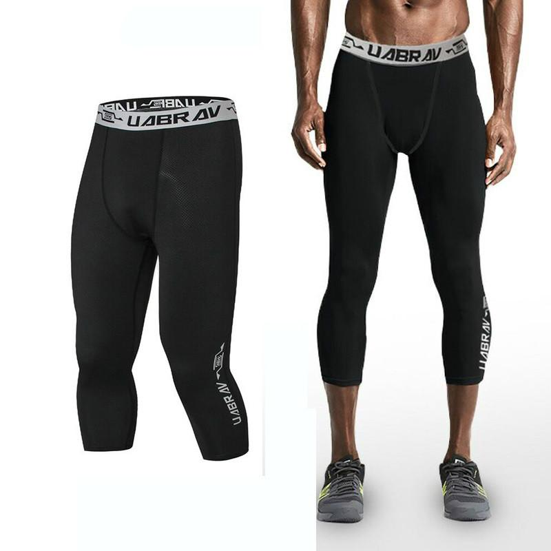 7c2c5151036 Mens Compression 3 4 Pants Quickly Dry Running Fitness Jogging Trousers  Sweatpants Elasticity Tights Leggings Skinny Pants Pants Tight 3 4 Leggings  Men ...