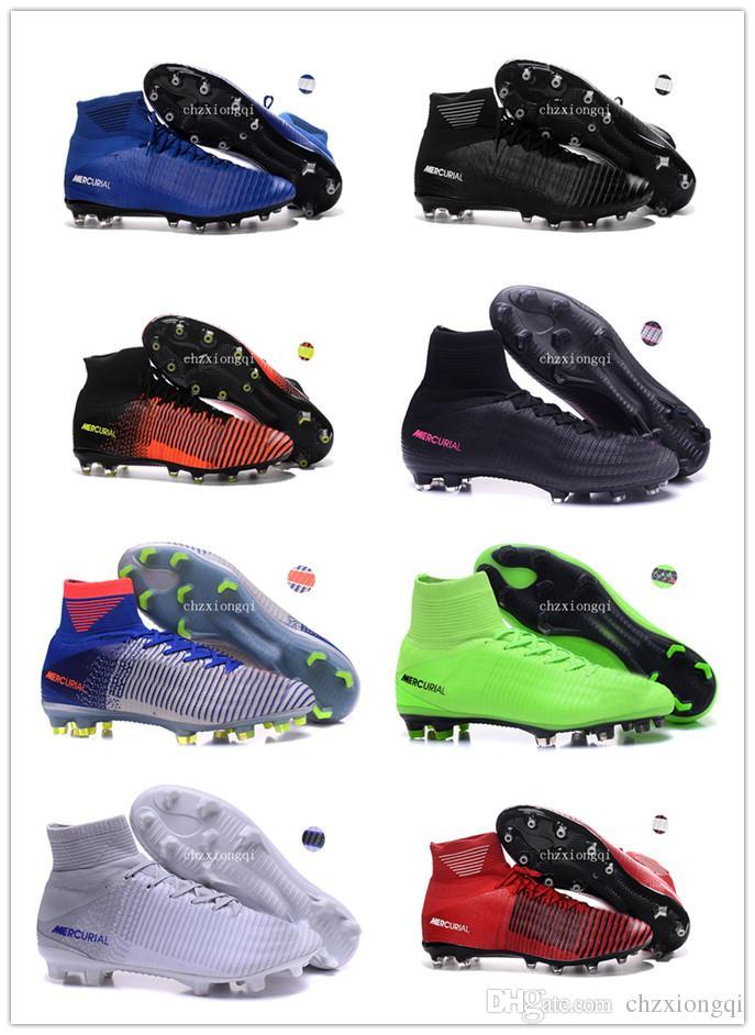 Compre 2018 Cr7 Tacos De Fútbol Niños Zapatos De Fútbol De Interior Ronaldo  Niños Mercurial Superfly SX Neymar TF IC Para Hombre Botas De Fútbol  Juvenil ... 4f3e1e11bc104