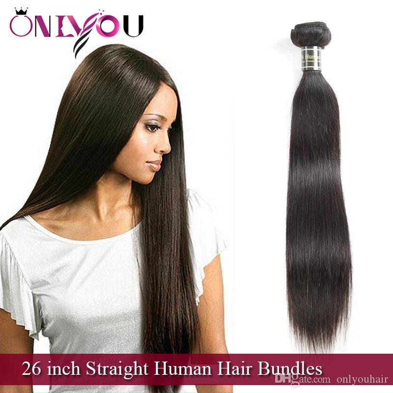 9a Brazilian Virgin Hair Extensions 26 Inch Straight Human Hair