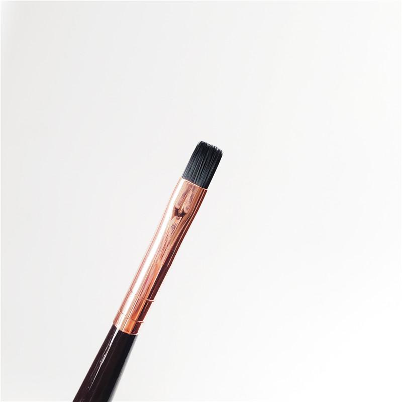 Charlotte_T Lip Brush - Cepillo labial de cobertura uniforme de forma plana para el cabello sintético - Blender Tool para maquillaje